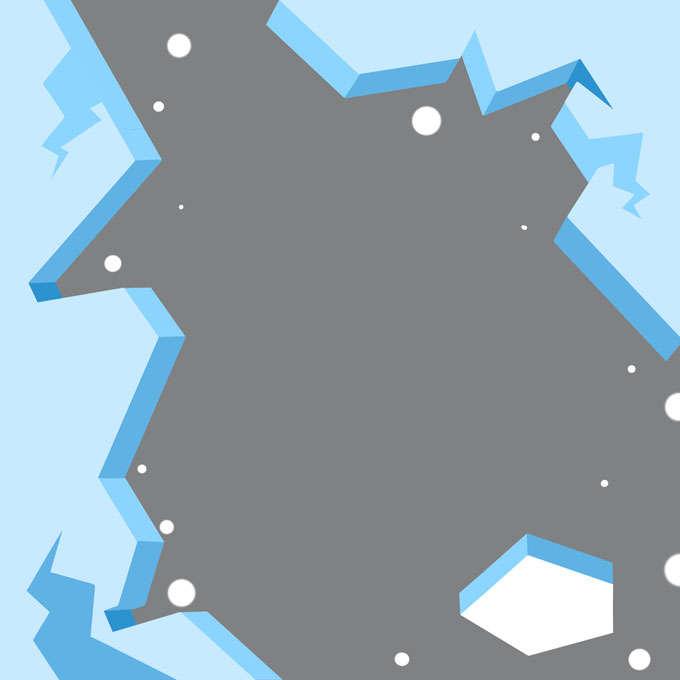 破碎的立体冰面冰层冰块效果7917425免抠图片素材