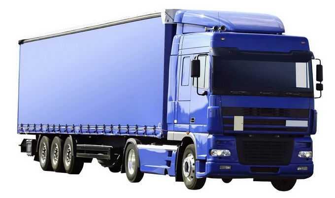 一辆蓝色的厢式卡车5107391png免抠图片素材