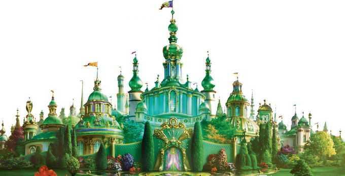 绿色的童话城堡9164668png免抠图片素材