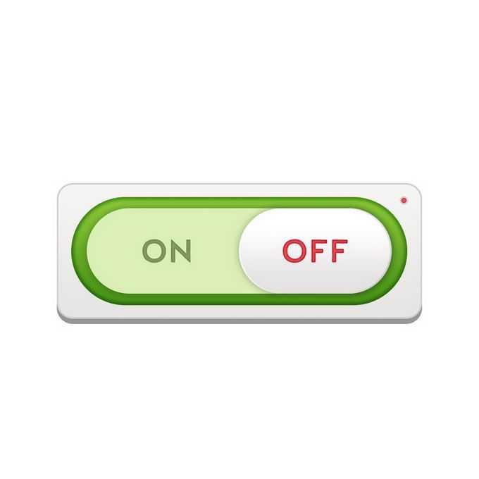 一款绿色描边的开关切换按钮游戏按钮网页按钮7218287免抠图片素材免费下载