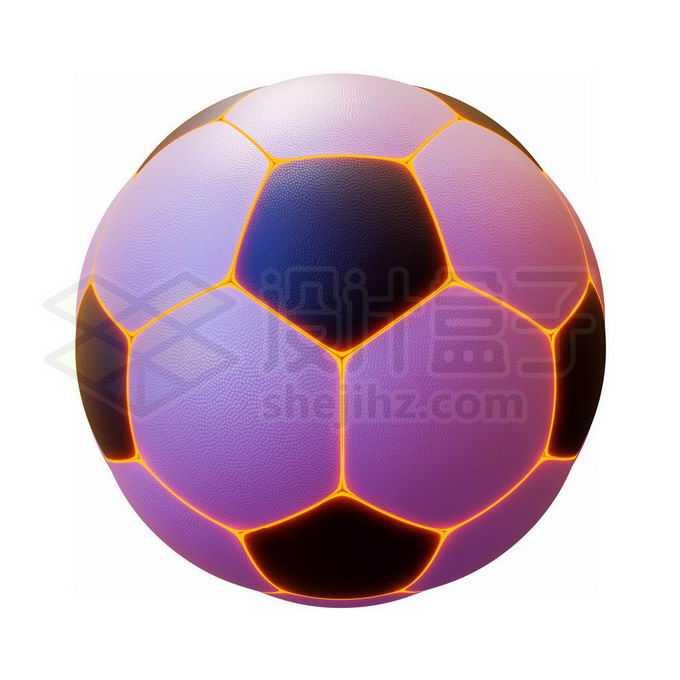 酷炫发光线条足球6106373免抠图片素材免费下载