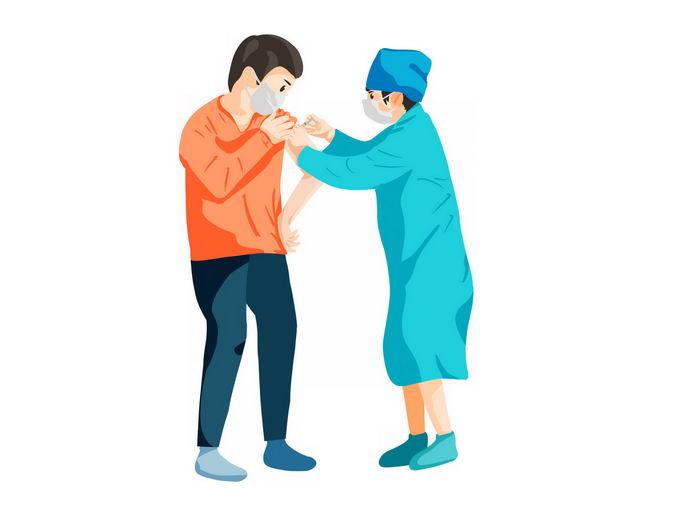 卡通医生正在给患者打针5468707免抠图片素材 健康医疗-第1张