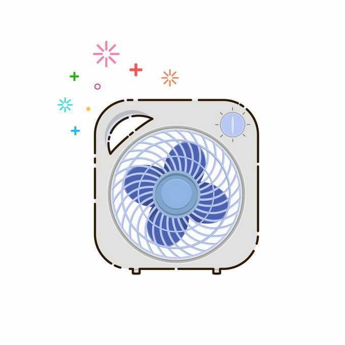一款MBE风格的电风扇夏天纳凉电器1348384矢量图片免抠素材免费下载
