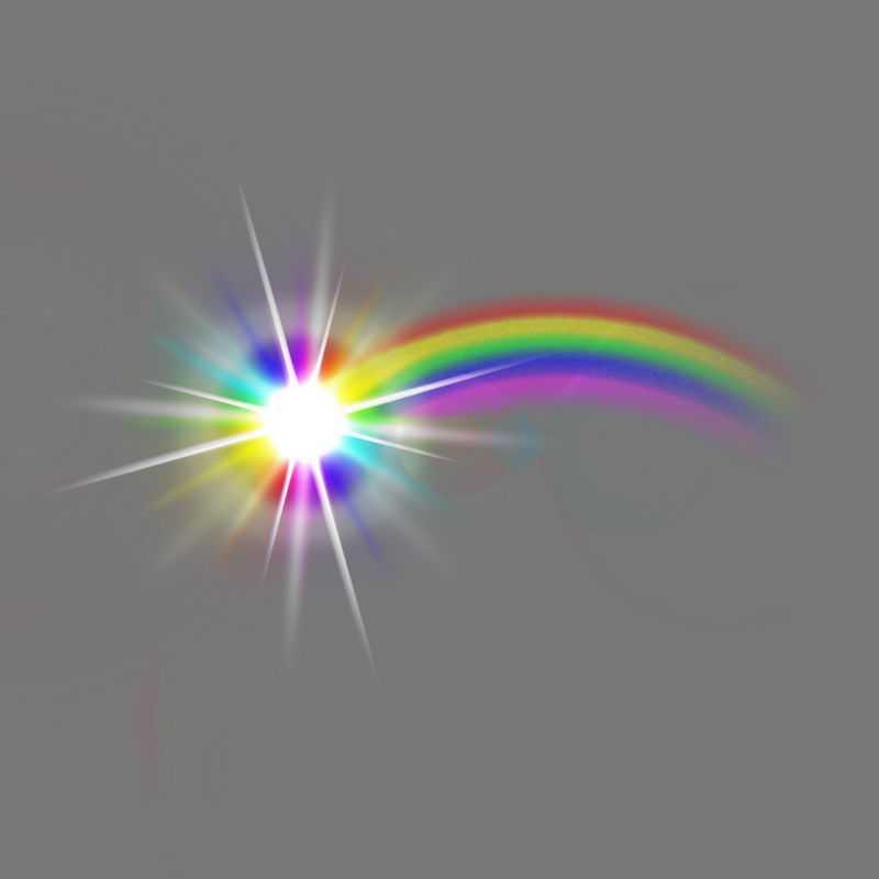 发光的七彩虹流星绚丽光线效果7441992免抠图片素材