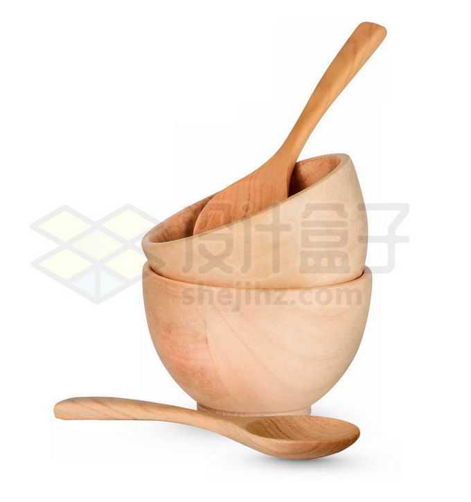 木头碗和木头勺子健康餐具4876300免抠图片素材免费下载