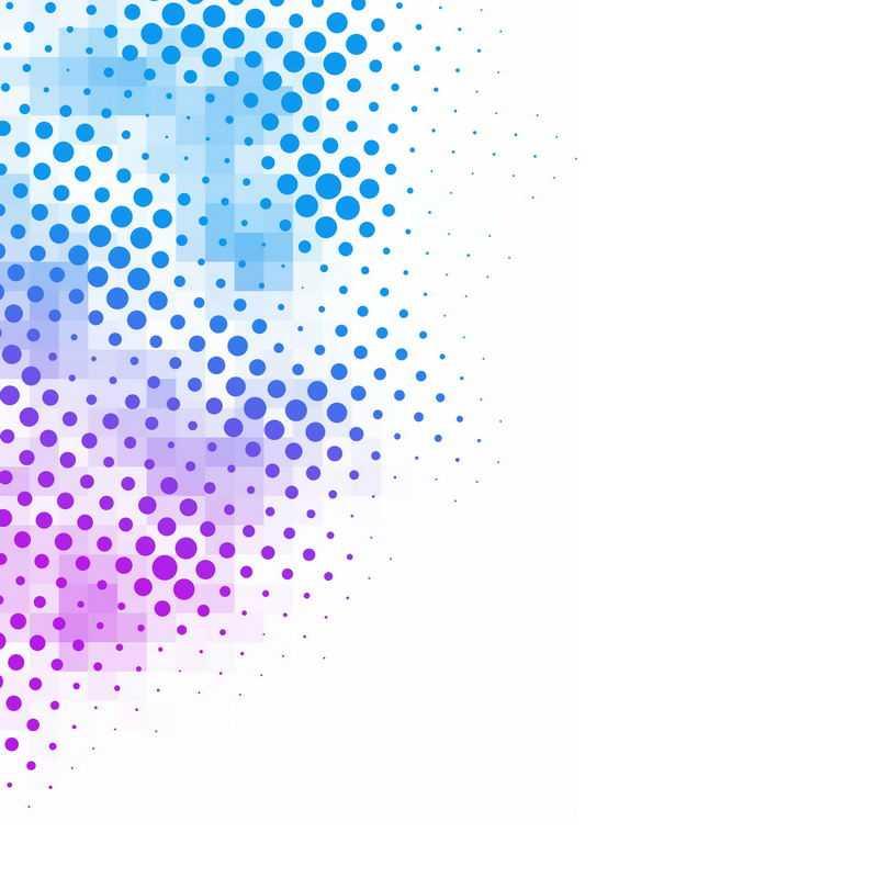 蓝色紫色圆点组成的装饰2649805免抠图片素材