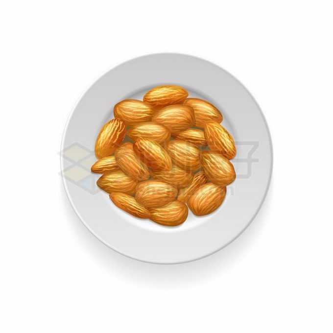 一盘杏仁美味零食4550660矢量图片免抠素材免费下载