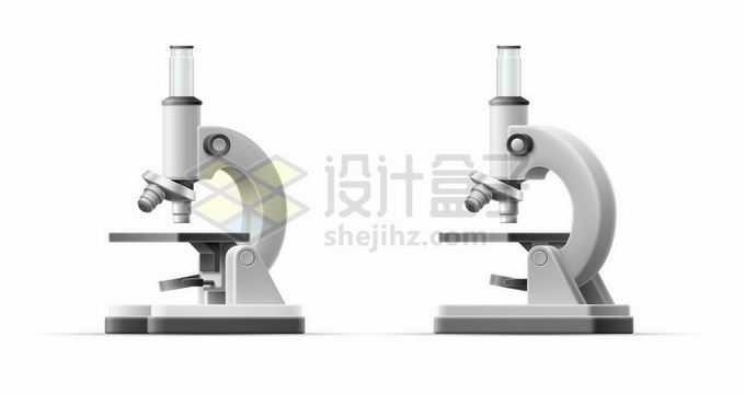 2个不同角度的灰白色光学显微镜2719812矢量图片免抠素材免费下载