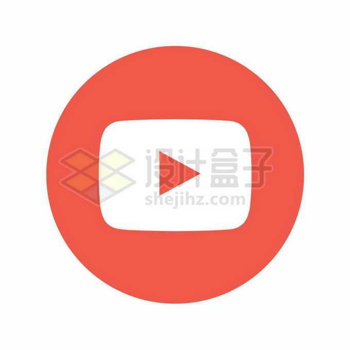 圆形扁平化风格YouTube标志logo5854297矢量图片免抠素材