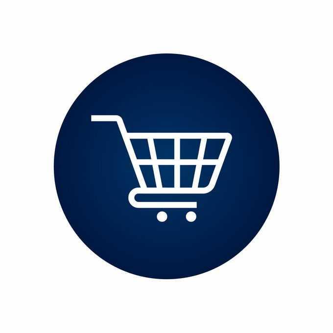 圆形超市购物车图标8188403矢量图片免抠素材免费下载