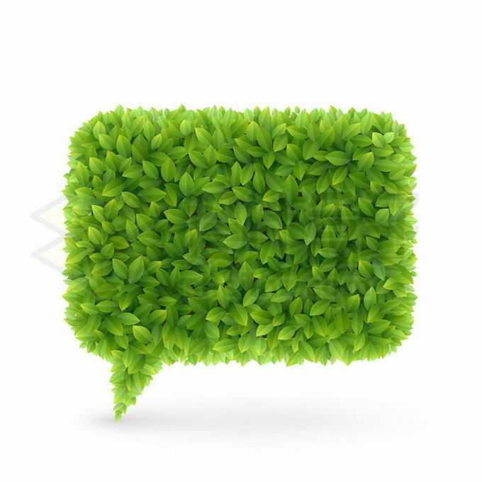 绿色树叶组成的对话框背景2417206矢量图片免抠素材免费下载