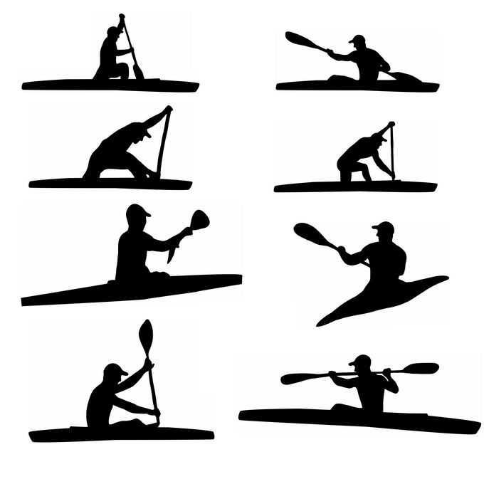 8款皮划艇运动员奥运会人物剪影9548079免抠图片素材