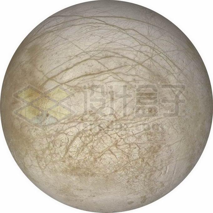 木星卫星木卫二表面细节图png免抠高清图片素材 科学地理-第1张