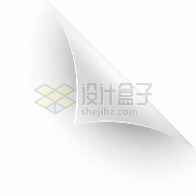 3D立体风格灰白色翻开的书本一角6825307矢量图片免抠素材