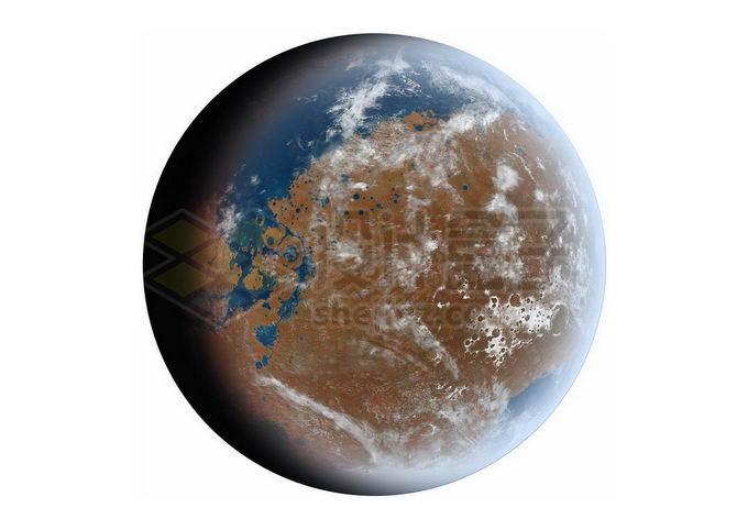 气候宜人的火星海洋湖泊想象图png免抠高清图片素材 科学地理-第1张