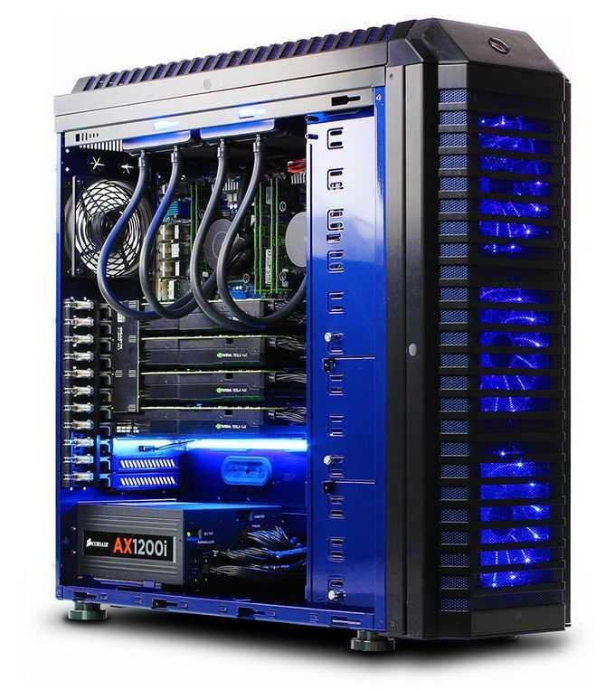 一台发着蓝光的台式机机箱内部结构图7562225png图片素材