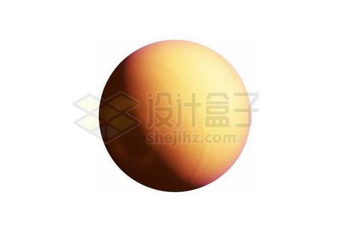 一颗金黄色的热木星系外行星png免抠高清图片素材