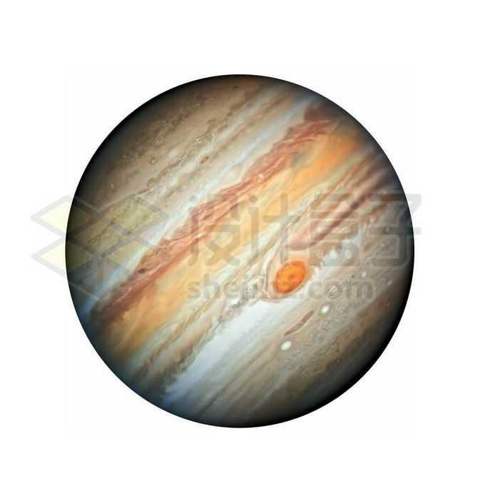 倾斜的彩色太阳系最大行星木星png免抠高清图片素材
