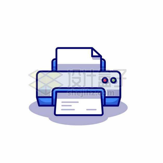 MBE风格卡通打印机彩色打印机3795548矢量图片免抠素材