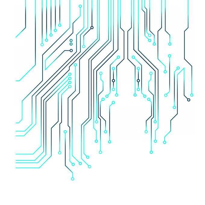 黑色和蓝色线条组成的集成电路图案8236827图片免抠素材免费下载