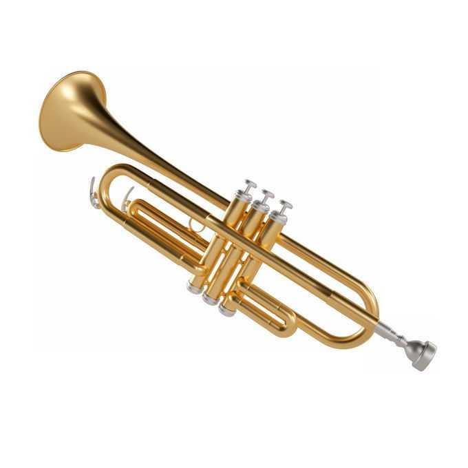 金色的小号长号铜管乐器西洋乐器5829076图片免抠素材免费下载