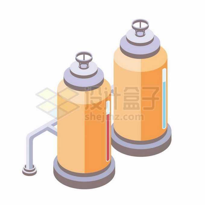 2.5D风格食品加工厂中的铁罐子4791122矢量图片免抠素材免费下载