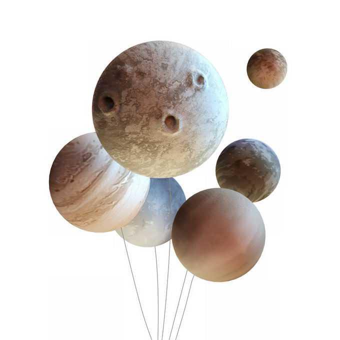 太阳系行星星球气球插画2504768图片免抠素材免费下载