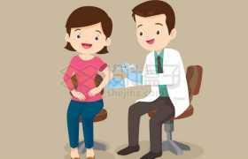 卡通医生正在为卡通女孩打针注射疫苗6502110矢量图片免抠素材免费下载