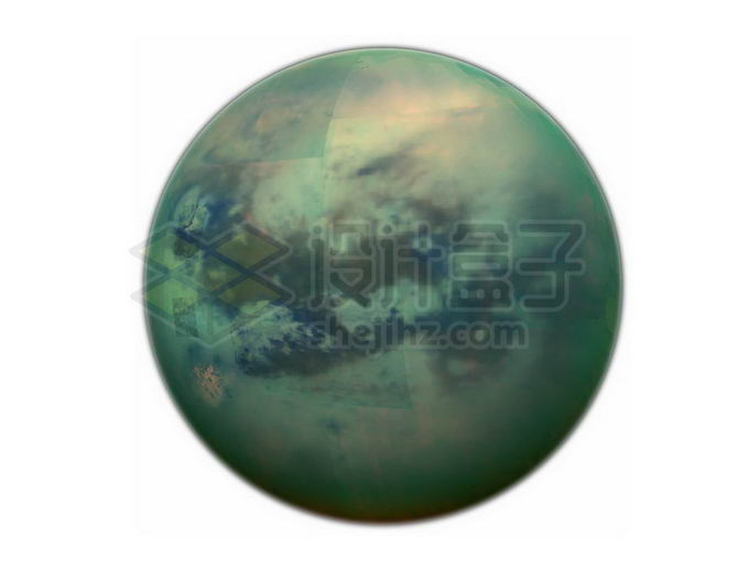 拥有浓厚大气层的土星卫星土卫六泰坦星png免抠高清图片素材 科学地理-第1张