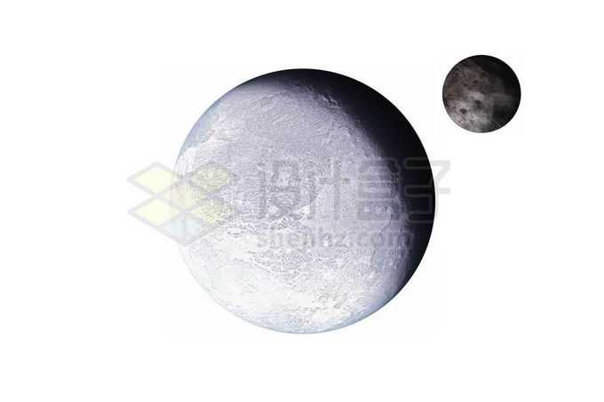 阋神星及其卫星阋卫一太阳系矮行星png免抠高清图片素材