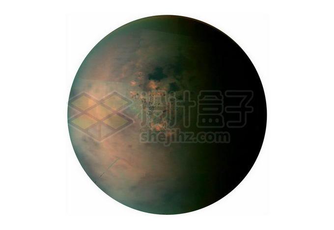 土卫六泰坦星合成图png免抠高清图片素材 科学地理-第1张