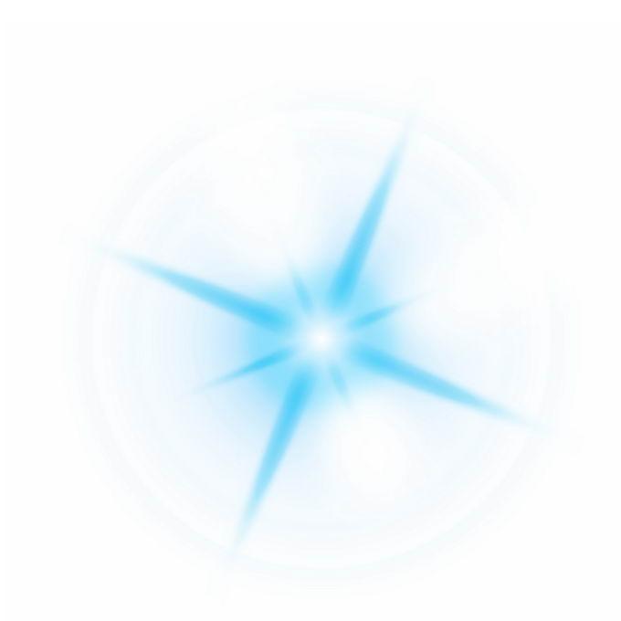 蓝色光芒光线星光光晕效果6157076图片免抠素材免费下载 效果元素-第1张