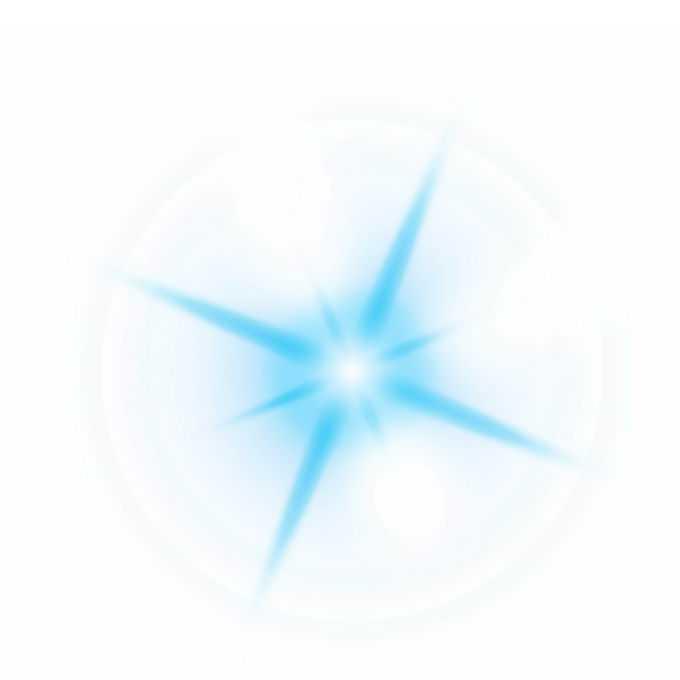 蓝色光芒光线星光光晕效果6157076图片免抠素材免费下载