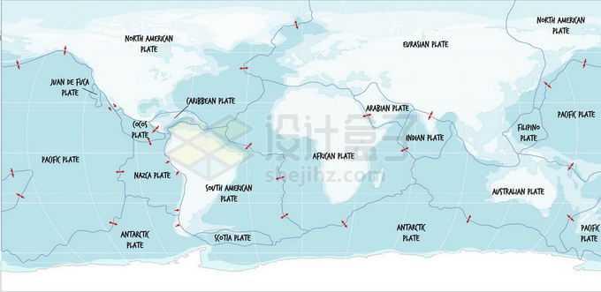 世界板块分布板块构造学说世界地图2342666矢量图片免抠素材免费下载