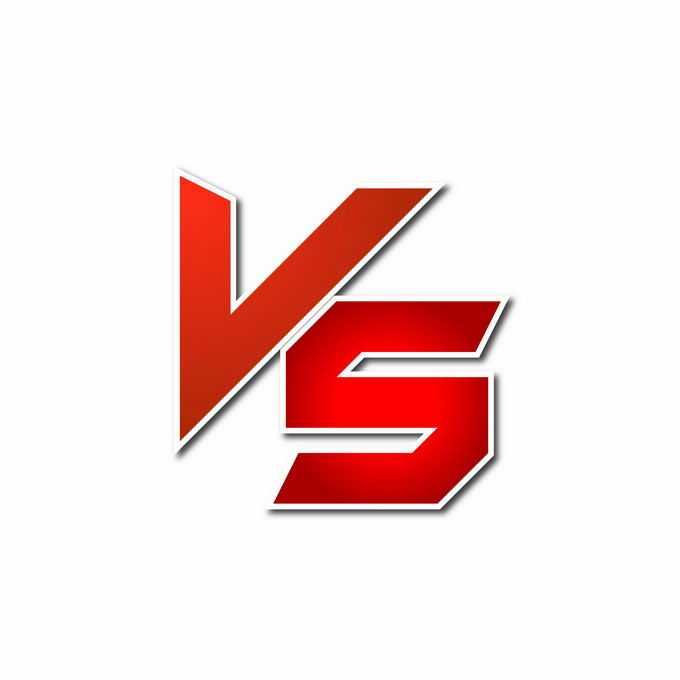 红色VS字母艺术字体4444415矢量图片素材