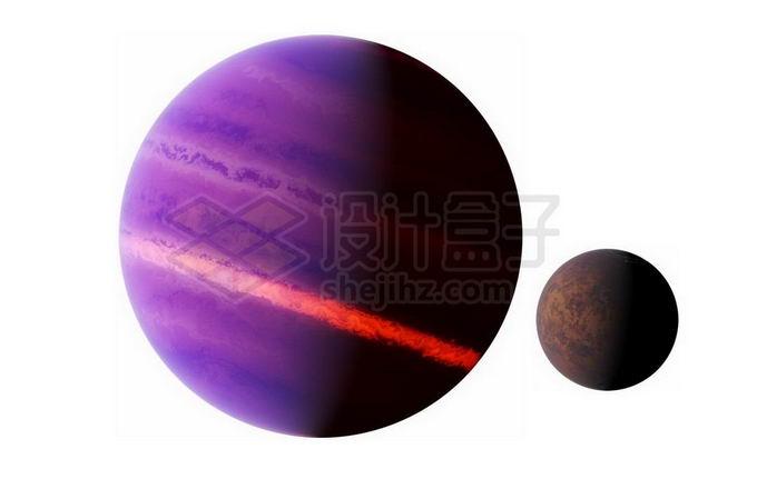 紫色的褐矮星和系外行星png免抠高清图片素材 科学地理-第1张