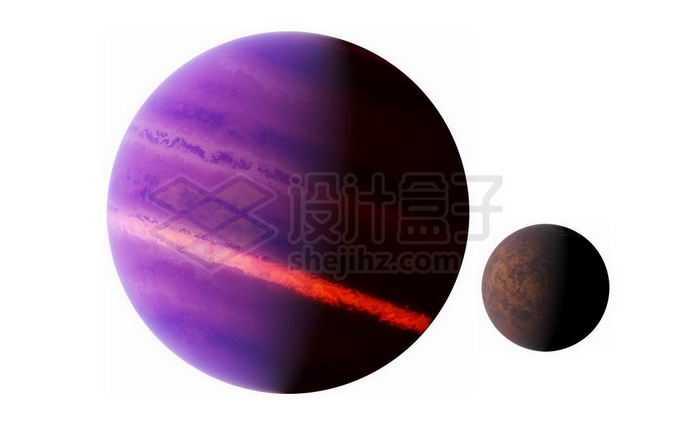 紫色的褐矮星和系外行星png免抠高清图片素材