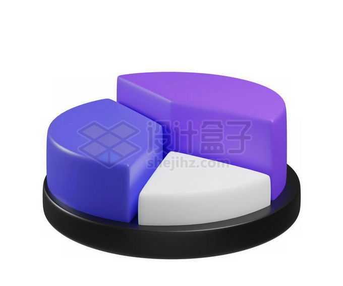 3D立体风格卡通饼形图圆形按钮模型4705613免抠图片素材