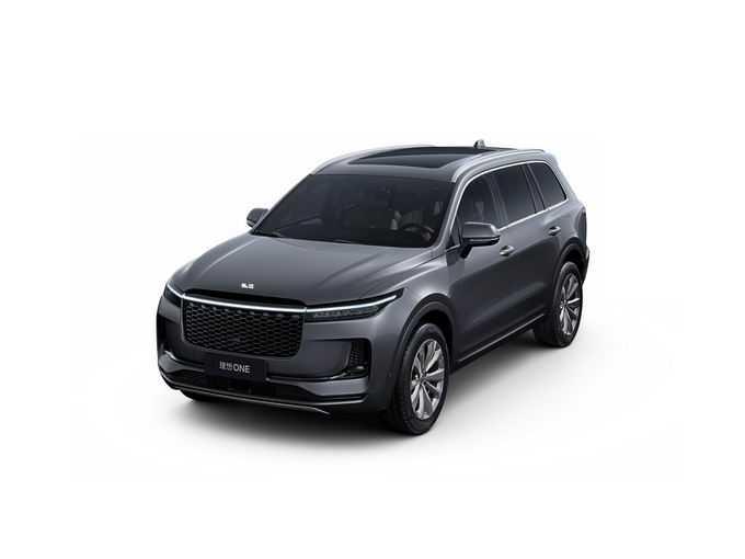 黑色理想ONE智能电动SUV汽车png免抠图片素材