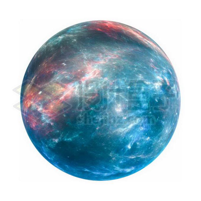 一颗绚丽的岩石星球超级地球系外行星png免抠高清图片素材 科学地理-第1张