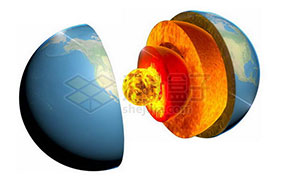 地球内部结构图片
