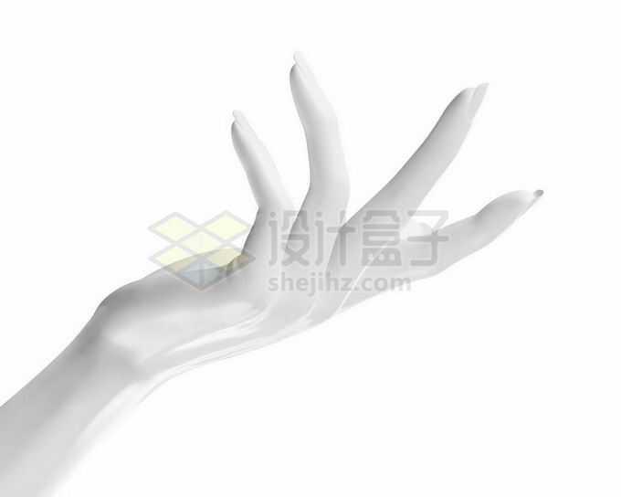 优雅的3D白色手势模型1635338矢量图片免抠素材