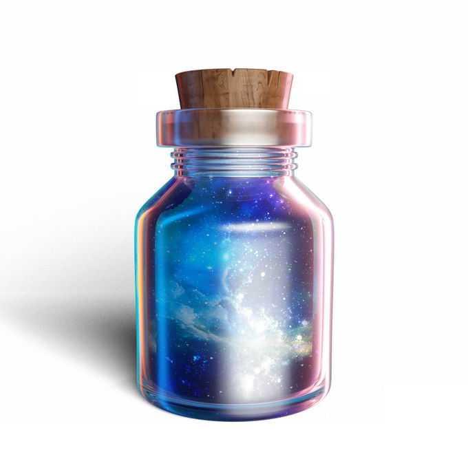 玻璃瓶中的宇宙发挥想象力抽象插画8306777图片免抠素材免费下载