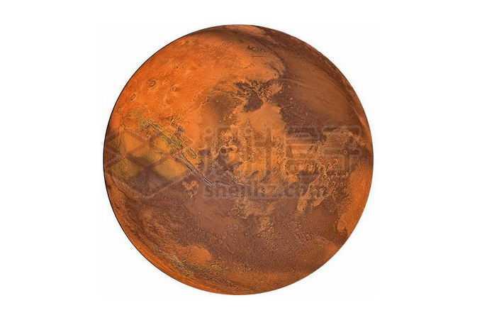 表面细节风格的太阳系大行星火星png免抠高清图片素材