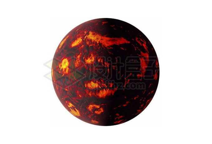充满红色岩浆海洋的太古宙早期地球或系外行星png免抠高清图片素材