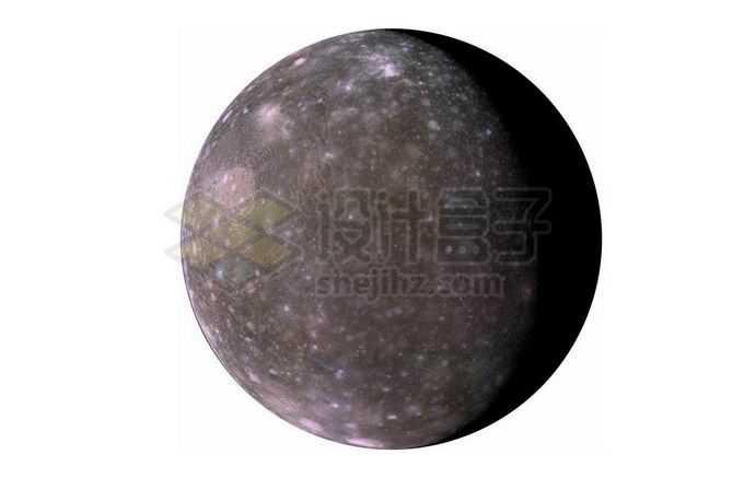 木星卫星太阳系第三大卫星木卫四png免抠高清图片素材