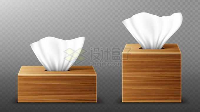 2款木制抽纸盒7991172矢量图片免抠素材