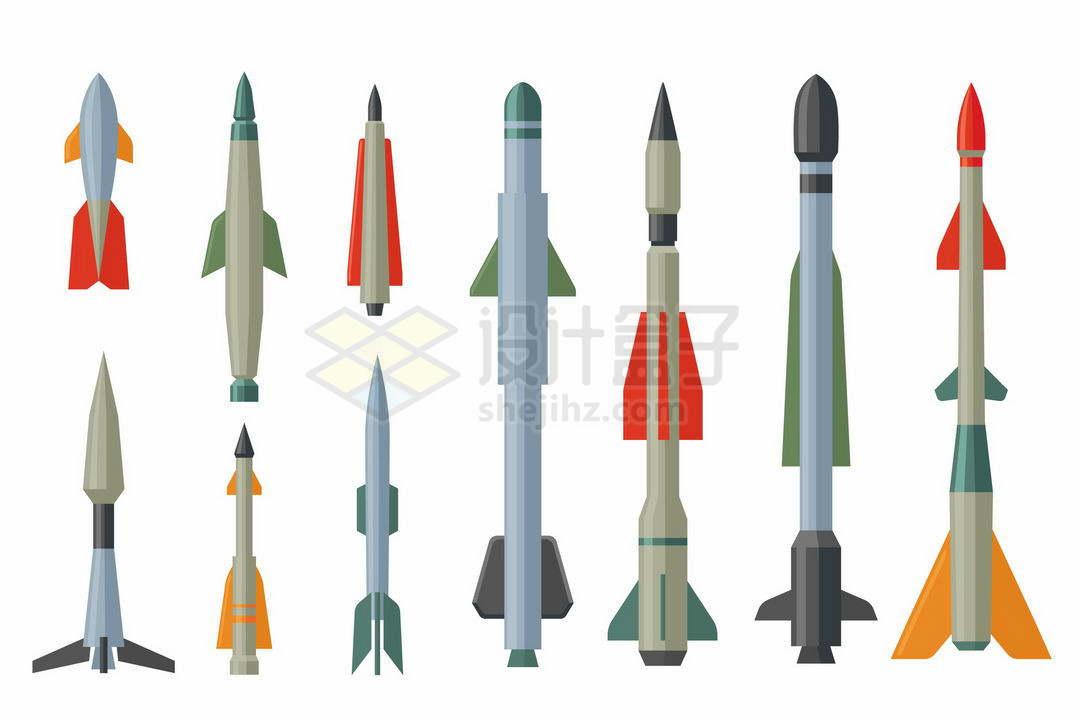 各种各样的卡通导弹炸弹5224776矢量图片免抠素材