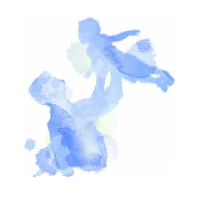 父亲节爸爸抱着孩子高高举起剪影水彩画插画8223269矢量图片免抠素材