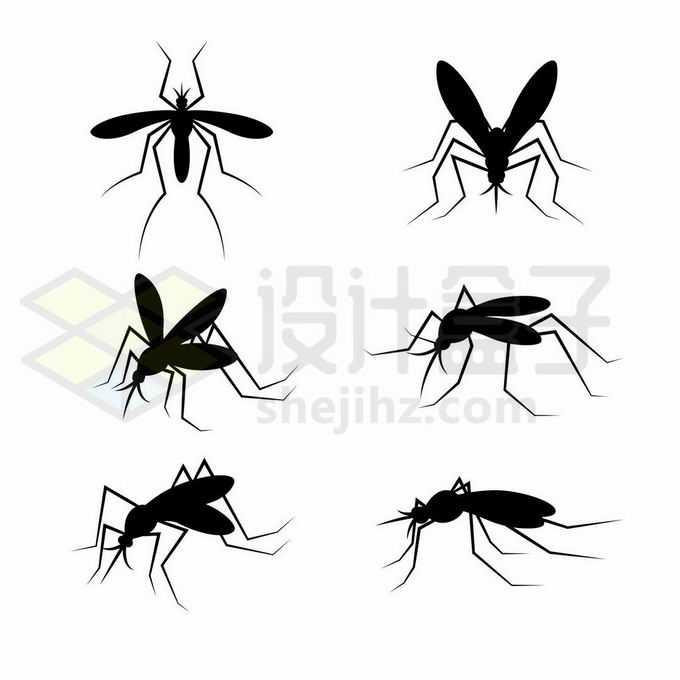 6款蚊子剪影害虫1067208矢量图片免抠素材免费下载